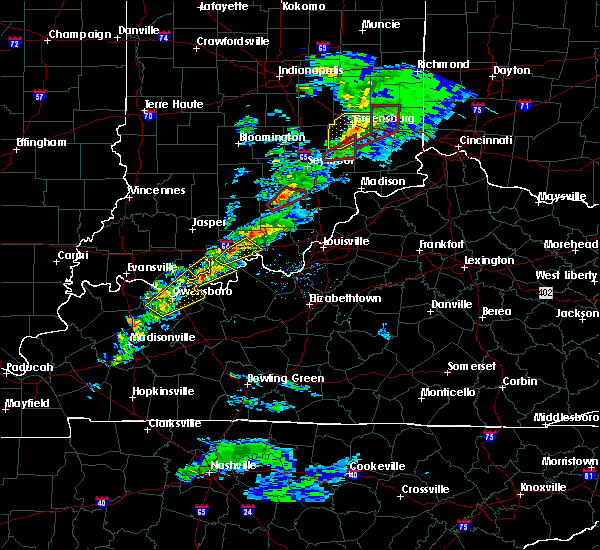 Radar Image for Severe Thunderstorms near Salem, IN at 3/14/2019 3:03 PM EDT