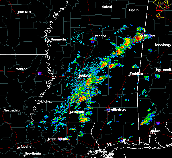 Radar Image for Severe Thunderstorms near New Hebron, MS at 3/14/2019 2:22 PM CDT