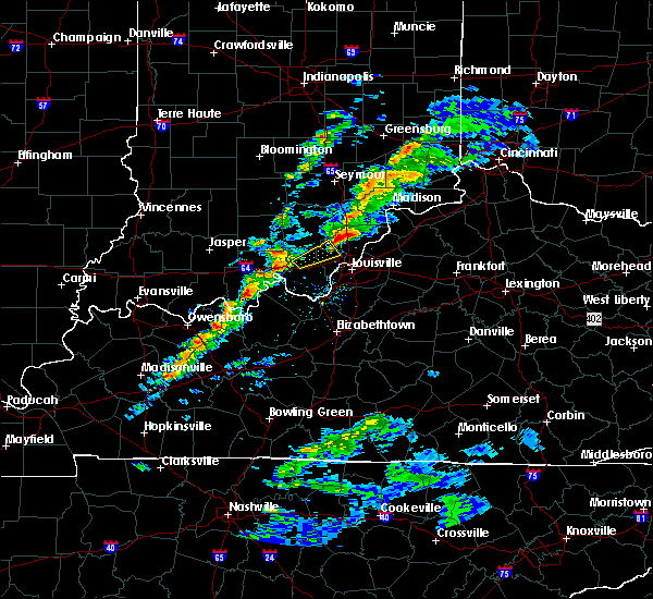 Radar Image for Severe Thunderstorms near Henryville, IN at 3/14/2019 3:57 PM EDT