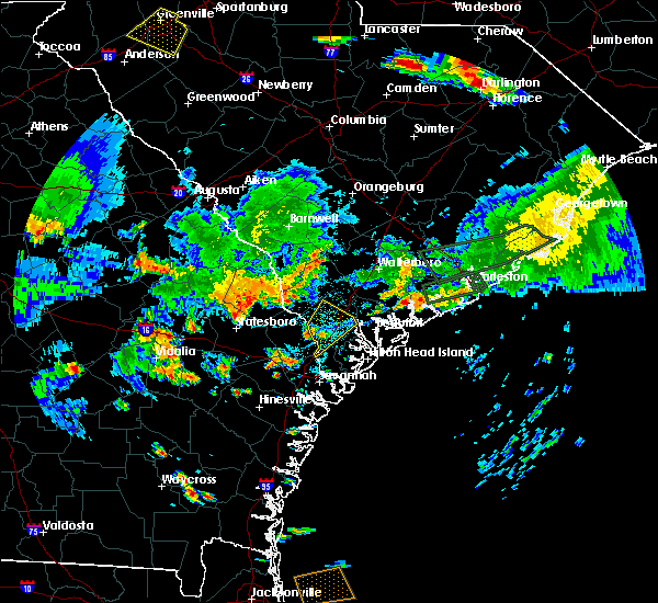 Radar Image for Severe Thunderstorms near Ridgeland, SC at 6/9/2015 6:52 PM EDT