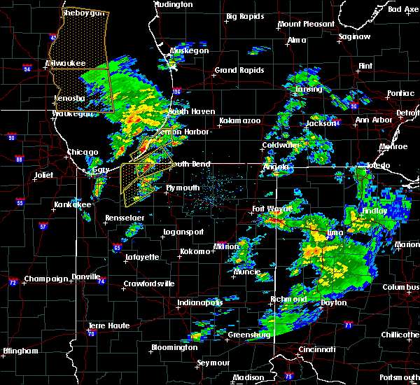 Radar Image for Severe Thunderstorms near Fair Plain, MI at 3/14/2019 4:03 PM EDT