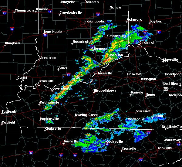 Radar Image for Severe Thunderstorms near Hanover, IN at 3/14/2019 4:15 PM EDT