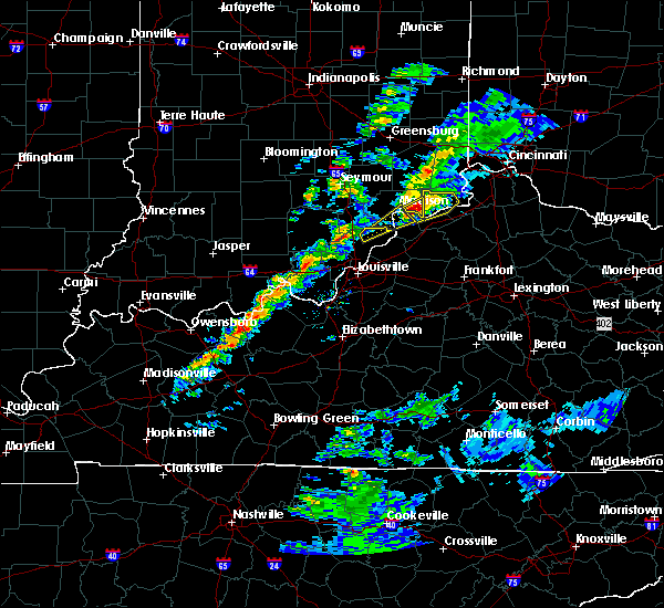 Radar Image for Severe Thunderstorms near Brooksburg, IN at 3/14/2019 4:25 PM EDT