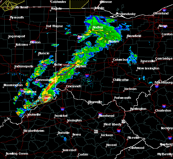 Radar Image for Severe Thunderstorms near Dayton, OH at 3/14/2019 4:32 PM EDT