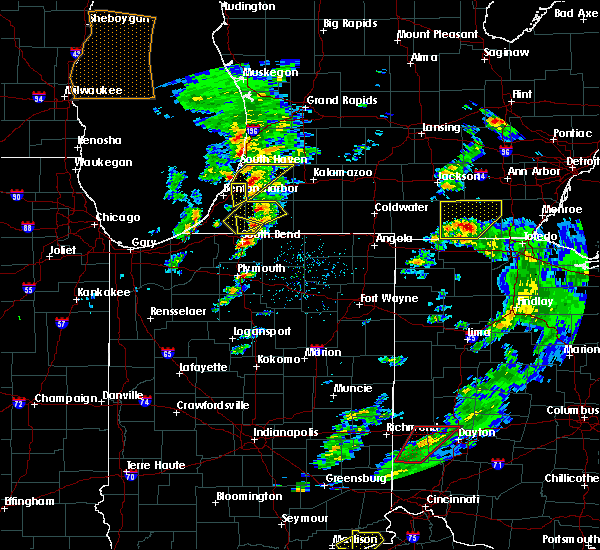 Radar Image for Severe Thunderstorms near Lakeville, IN at 3/14/2019 4:37 PM EDT