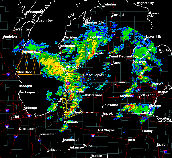 Radar Image for Severe Thunderstorms near South Haven, MI at 3/14/2019 4:44 PM EDT