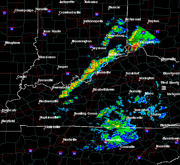 Radar Image for Severe Thunderstorms near Hanover, IN at 3/14/2019 5:04 PM EDT