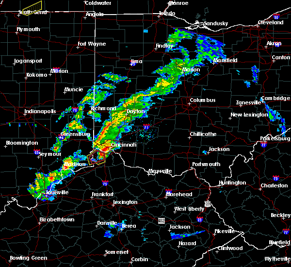 Radar Image for Severe Thunderstorms near Cincinnati, OH at 3/14/2019 5:04 PM EDT
