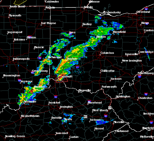 Radar Image for Severe Thunderstorms near Dayton, OH at 3/14/2019 5:13 PM EDT