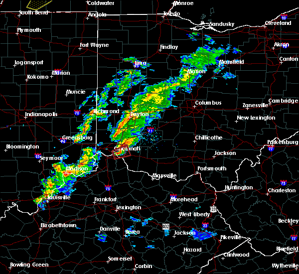 Radar Image for Severe Thunderstorms near Lebanon, OH at 3/14/2019 5:20 PM EDT