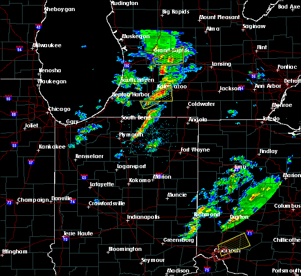 Radar Image for Severe Thunderstorms near Shipshewana, IN at 3/14/2019 5:26 PM EDT