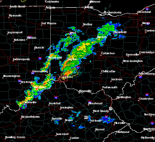 Radar Image for Severe Thunderstorms near Cincinnati, OH at 3/14/2019 5:27 PM EDT