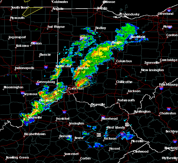 Radar Image for Severe Thunderstorms near Lebanon, OH at 3/14/2019 5:33 PM EDT