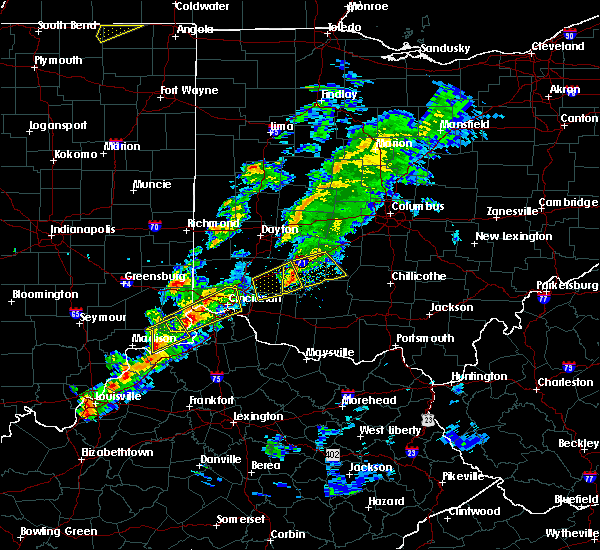 Radar Image for Severe Thunderstorms near Cincinnati, OH at 3/14/2019 5:46 PM EDT