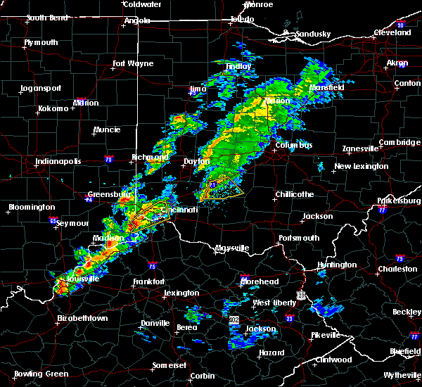 Radar Image for Severe Thunderstorms near Cincinnati, OH at 3/14/2019 5:58 PM EDT