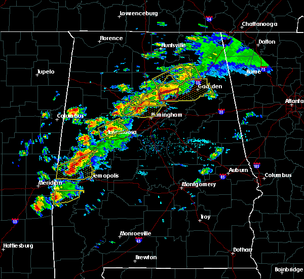 Radar Image for Severe Thunderstorms near Birmingham, AL at 3/14/2019 5:05 PM CDT