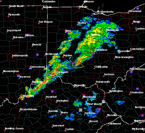 Radar Image for Severe Thunderstorms near Greenhills, OH at 3/14/2019 6:08 PM EDT