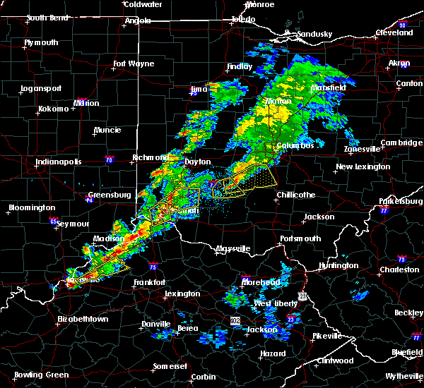 Radar Image for Severe Thunderstorms near Cincinnati, OH at 3/14/2019 6:11 PM EDT