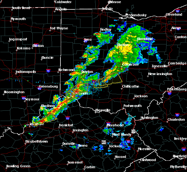 Radar Image for Severe Thunderstorms near Cincinnati, OH at 3/14/2019 6:21 PM EDT