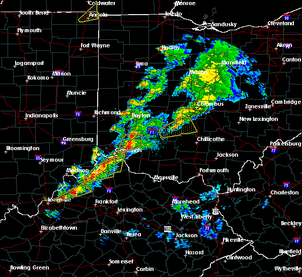 Radar Image for Severe Thunderstorms near Cincinnati, OH at 3/14/2019 6:24 PM EDT