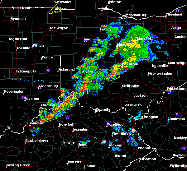 Radar Image for Severe Thunderstorms near Pleasant Plain, OH at 3/14/2019 6:27 PM EDT