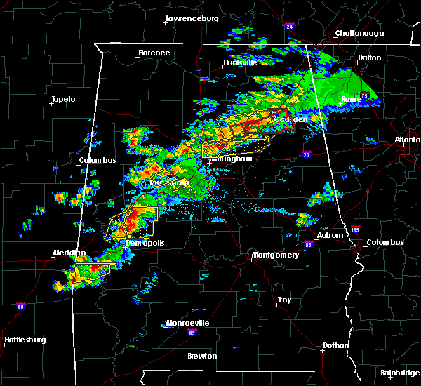 Radar Image for Severe Thunderstorms near Birmingham, AL at 3/14/2019 5:30 PM CDT