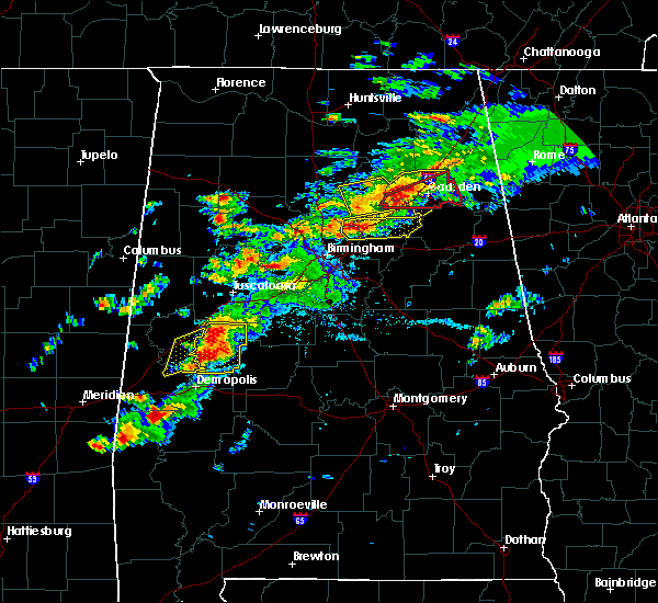 Radar Image for Severe Thunderstorms near Ashville, AL at 3/14/2019 5:37 PM CDT