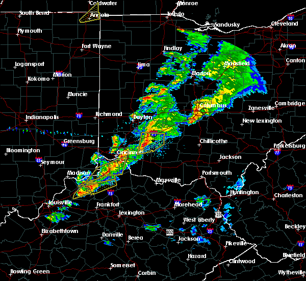 Radar Image for Severe Thunderstorms near Clarksville, OH at 3/14/2019 6:40 PM EDT
