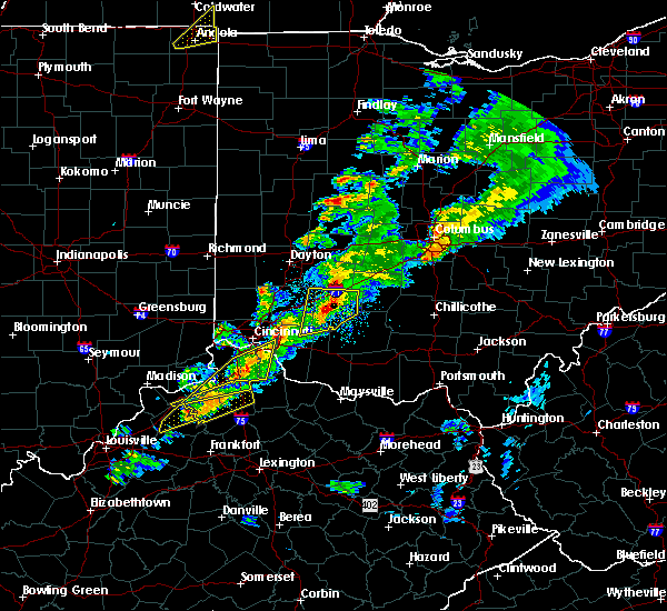Radar Image for Severe Thunderstorms near Cincinnati, OH at 3/14/2019 6:46 PM EDT