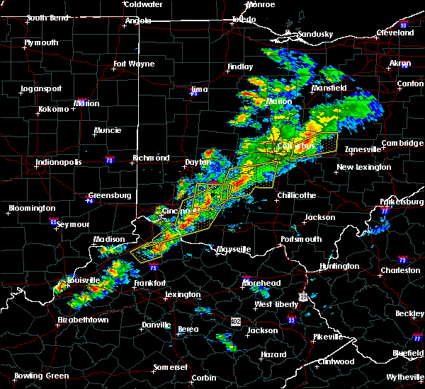 Radar Image for Severe Thunderstorms near Jeffersonville, OH at 3/14/2019 7:14 PM EDT