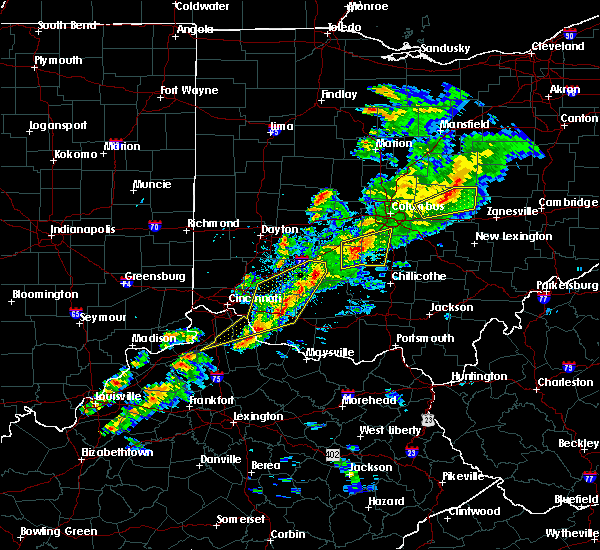 Radar Image for Severe Thunderstorms near Good Hope, OH at 3/14/2019 7:26 PM EDT