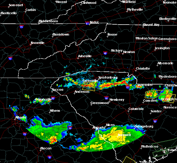 Radar Image for Severe Thunderstorms near Pelzer, SC at 6/9/2015 7:10 PM EDT