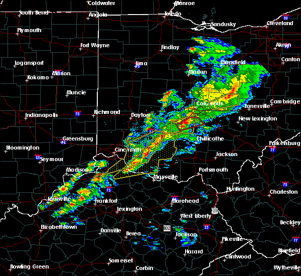 Radar Image for Severe Thunderstorms near St. Louisville, OH at 3/14/2019 7:30 PM EDT