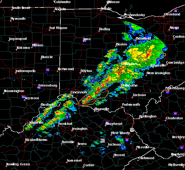 Radar Image for Severe Thunderstorms near Obetz, OH at 3/14/2019 7:42 PM EDT