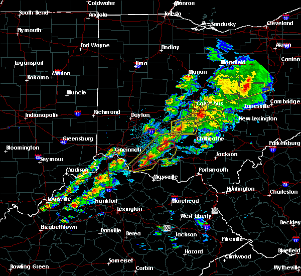 Radar Image for Severe Thunderstorms near Greenfield, OH at 3/14/2019 7:48 PM EDT