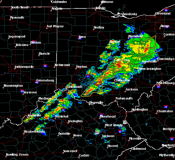 Radar Image for Severe Thunderstorms near Leesburg, OH at 3/14/2019 7:51 PM EDT