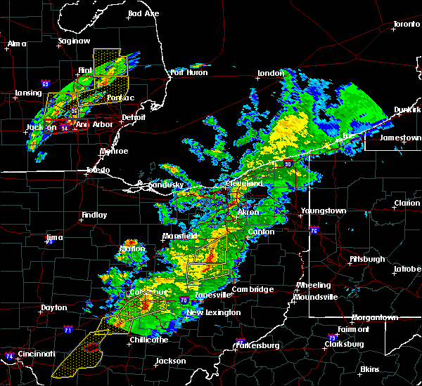 Radar Image for Severe Thunderstorms near Massillon, OH at 3/14/2019 7:58 PM EDT