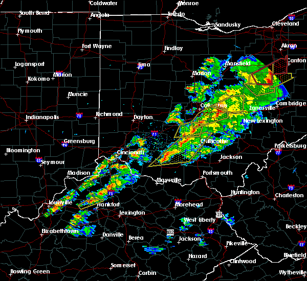 Radar Image for Severe Thunderstorms near St. Louisville, OH at 3/14/2019 8:04 PM EDT