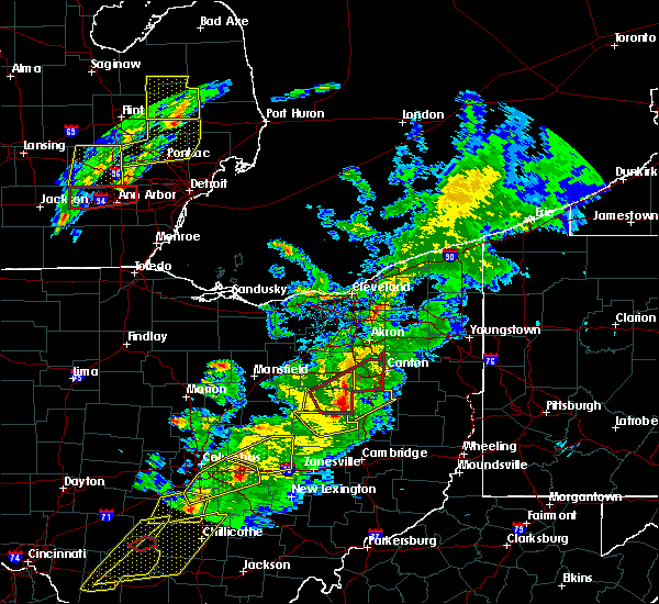 Radar Image for Severe Thunderstorms near North Lawrence, OH at 3/14/2019 8:08 PM EDT