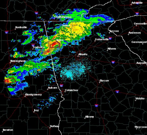 Radar Image for Severe Thunderstorms near Cedartown, GA at 3/14/2019 8:11 PM EDT