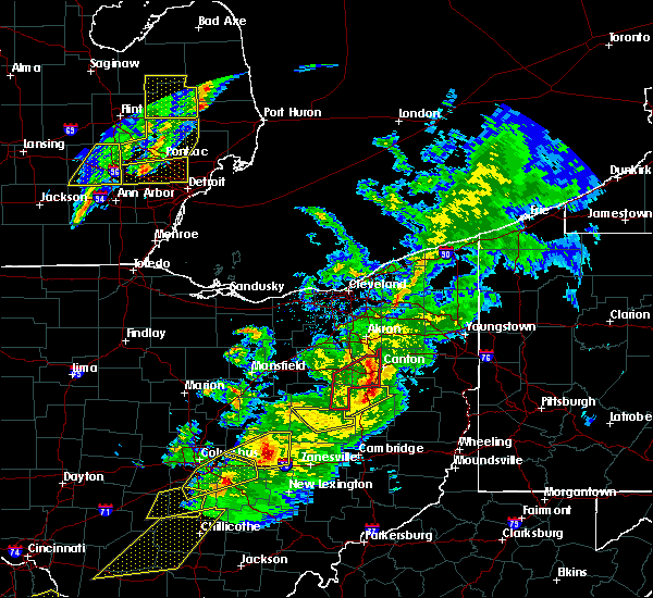 Radar Image for Severe Thunderstorms near Massillon, OH at 3/14/2019 8:20 PM EDT