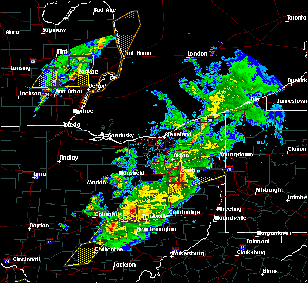 Radar Image for Severe Thunderstorms near Plainfield, OH at 3/14/2019 8:26 PM EDT