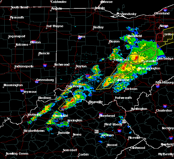 Radar Image for Severe Thunderstorms near Clarksburg, OH at 3/14/2019 8:30 PM EDT
