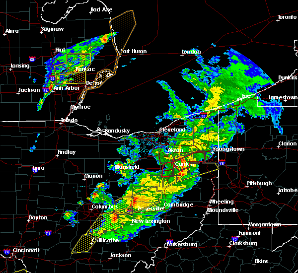 Radar Image for Severe Thunderstorms near Plainfield, OH at 3/14/2019 8:36 PM EDT
