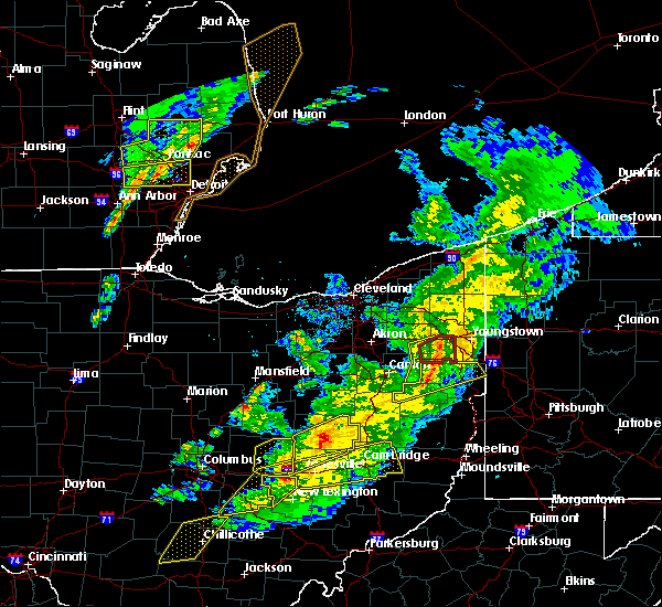 Radar Image for Severe Thunderstorms near Plainfield, OH at 3/14/2019 8:49 PM EDT