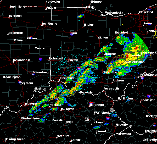 Radar Image for Severe Thunderstorms near Augusta, OH at 3/14/2019 8:58 PM EDT