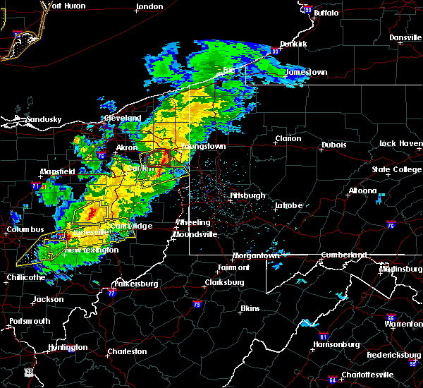 Radar Image for Severe Thunderstorms near Vienna Center, OH at 3/14/2019 8:58 PM EDT