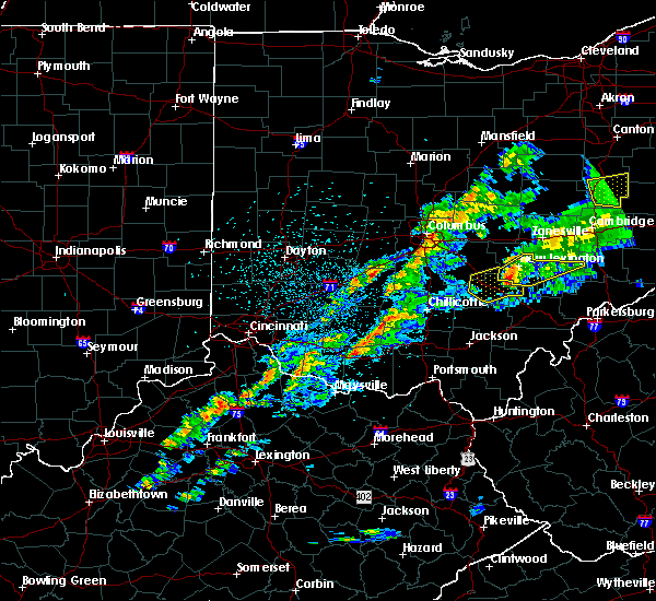 Radar Image for Severe Thunderstorms near New Lexington, OH at 3/14/2019 9:23 PM EDT