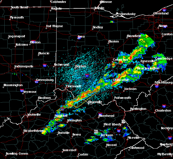 Radar Image for Severe Thunderstorms near Augusta, OH at 3/14/2019 10:06 PM EDT