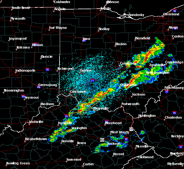 Radar Image for Severe Thunderstorms near West Union, OH at 3/14/2019 10:18 PM EDT